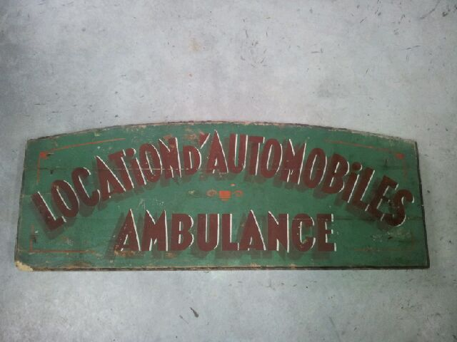 """Location d'automobiles ambulance"" original"